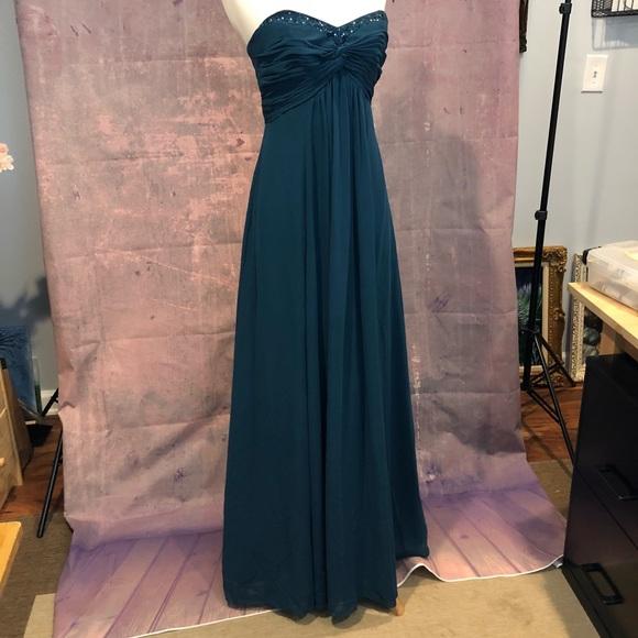 Dark Teal Bridesmaid Dresses